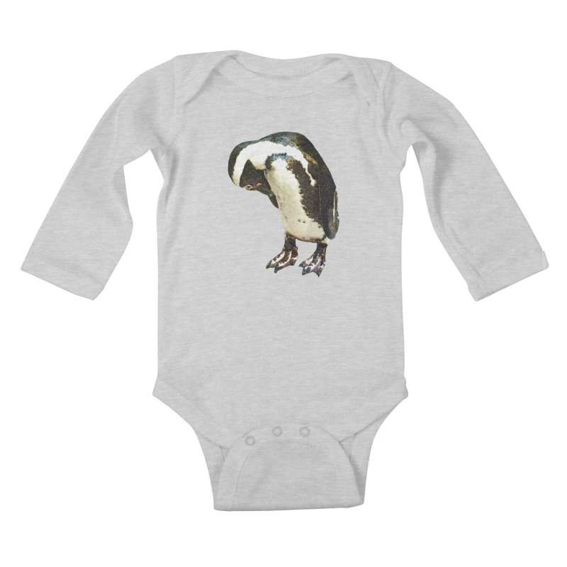 Magellanic Penguin Kids Baby Longsleeve Bodysuit by Of The Wild by Kimberly J Tilley