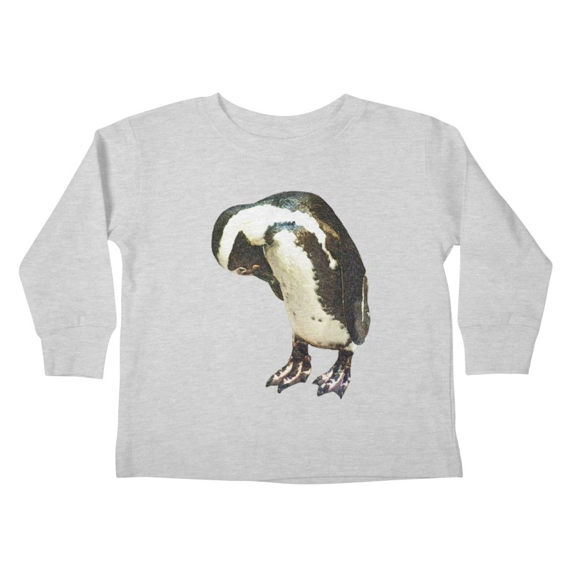 Magellanic Penguin Kids Toddler Longsleeve T-Shirt by Of The Wild by Kimberly J Tilley