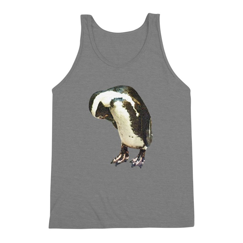 Magellanic Penguin Men's Triblend Tank by Of The Wild by Kimberly J Tilley