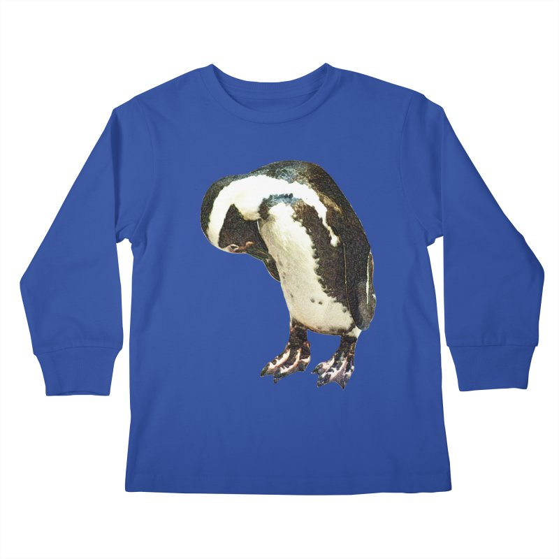 Magellanic Penguin Kids Longsleeve T-Shirt by Of The Wild by Kimberly J Tilley