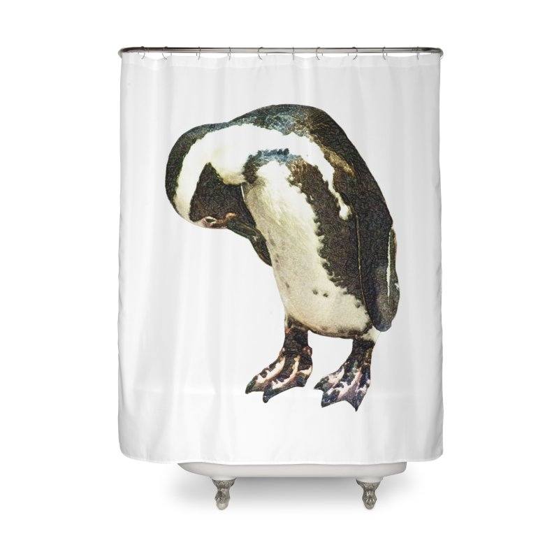 Magellanic Penguin Home Shower Curtain by Of The Wild by Kimberly J Tilley