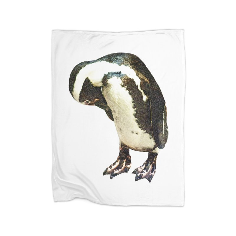 Magellanic Penguin Home Blanket by Of The Wild by Kimberly J Tilley