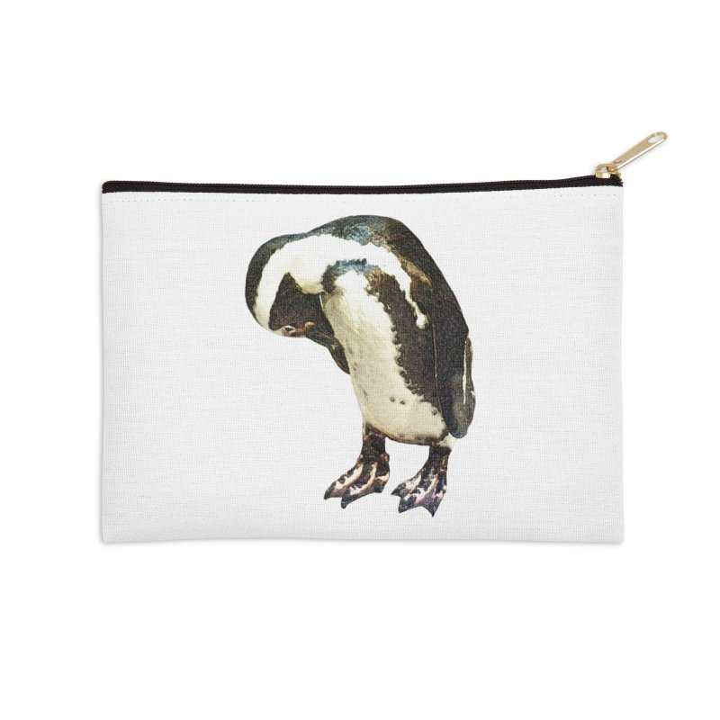 Magellanic Penguin Accessories Zip Pouch by Of The Wild by Kimberly J Tilley