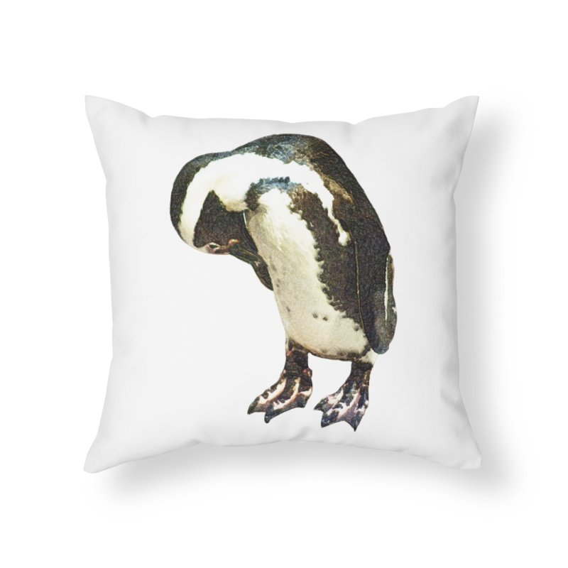 Magellanic Penguin Home Throw Pillow by Of The Wild by Kimberly J Tilley