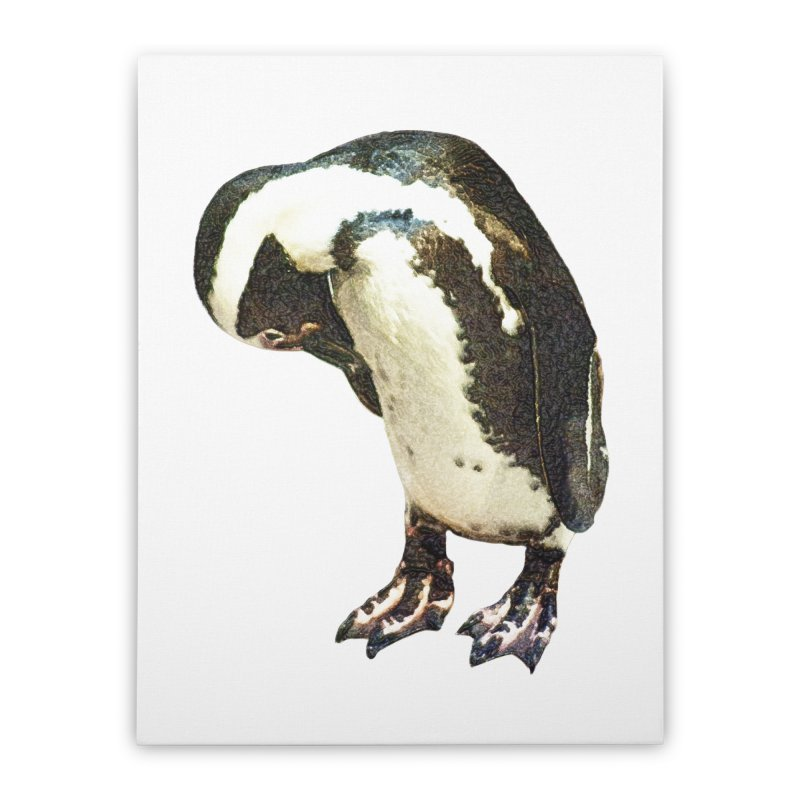 Magellanic Penguin Home Stretched Canvas by Of The Wild by Kimberly J Tilley