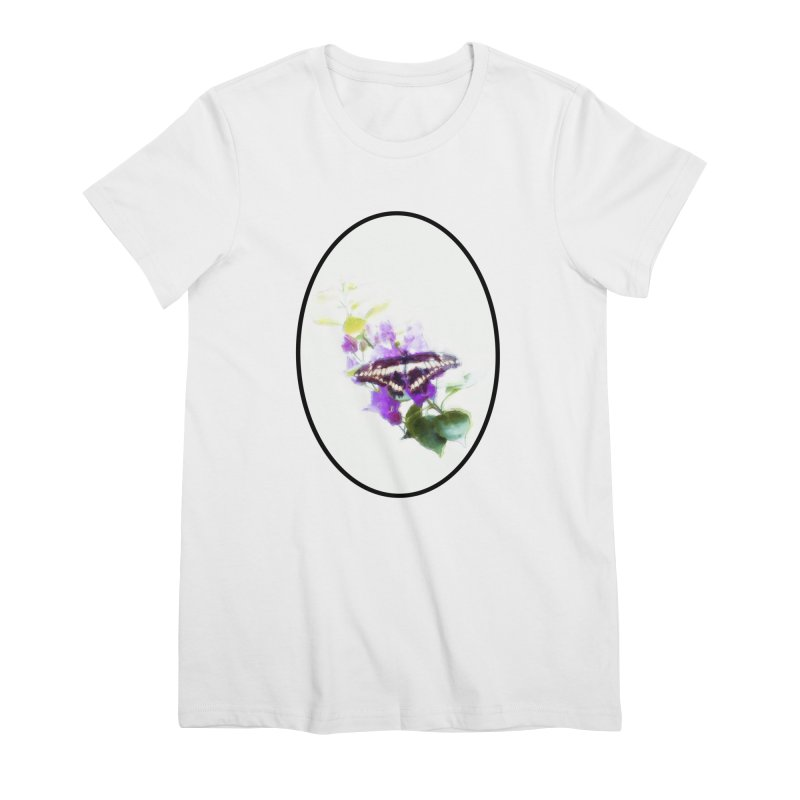 Giant Swallowtail Women's Premium T-Shirt by Of The Wild by Kimberly J Tilley