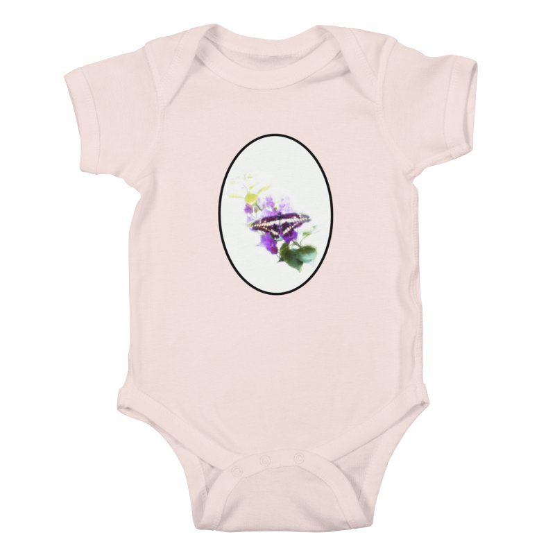 Giant Swallowtail Kids Baby Bodysuit by Of The Wild by Kimberly J Tilley