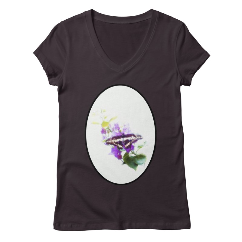 Giant Swallowtail Women's V-Neck by Of The Wild by Kimberly J Tilley