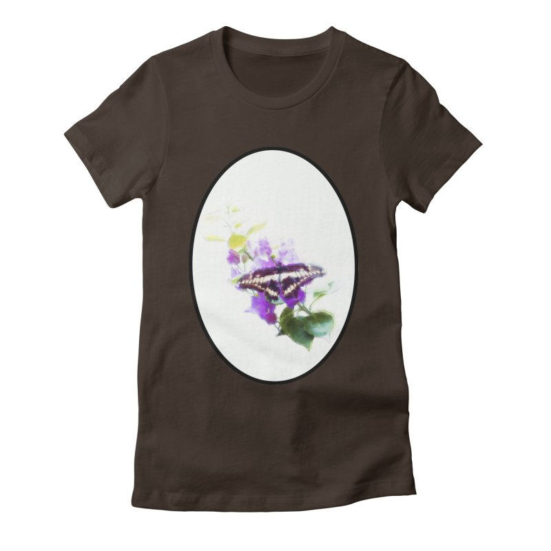 Giant Swallowtail Women's Fitted T-Shirt by Of The Wild by Kimberly J Tilley