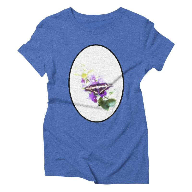 Giant Swallowtail Women's Triblend T-Shirt by Of The Wild by Kimberly J Tilley
