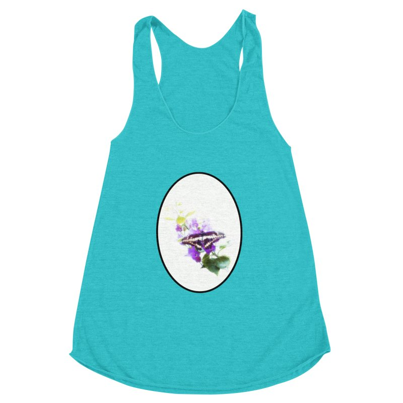 Giant Swallowtail Women's Racerback Triblend Tank by Of The Wild by Kimberly J Tilley