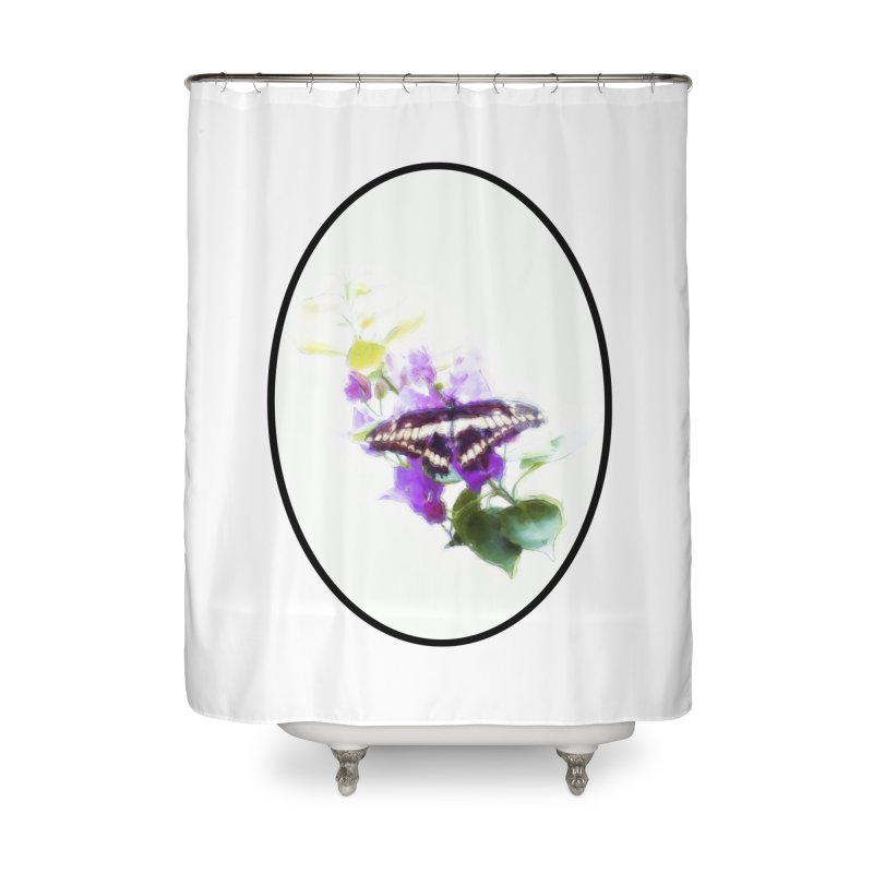 Giant Swallowtail Home Shower Curtain by Of The Wild by Kimberly J Tilley