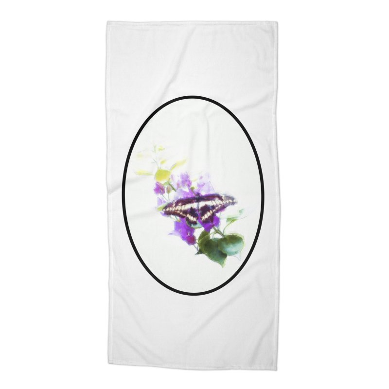 Giant Swallowtail Accessories Beach Towel by Of The Wild by Kimberly J Tilley
