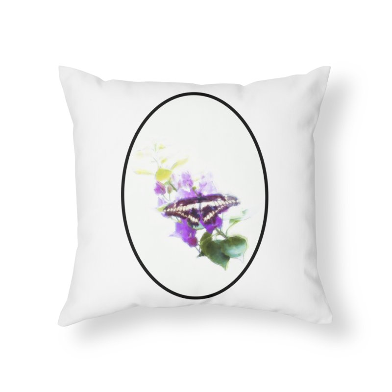 Giant Swallowtail Home Throw Pillow by Of The Wild by Kimberly J Tilley