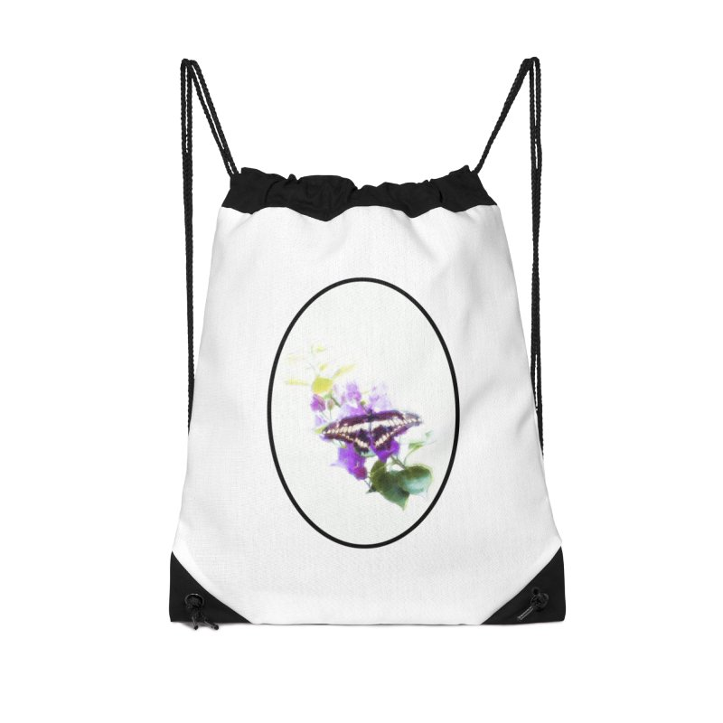 Giant Swallowtail Accessories Drawstring Bag Bag by Of The Wild by Kimberly J Tilley