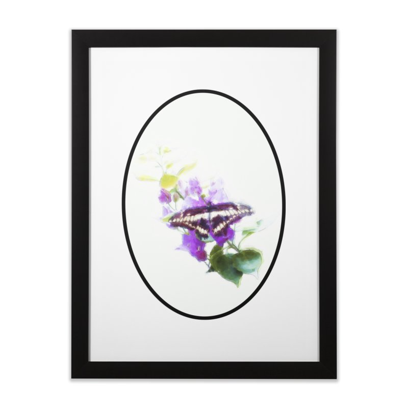 Giant Swallowtail Home Framed Fine Art Print by Of The Wild by Kimberly J Tilley
