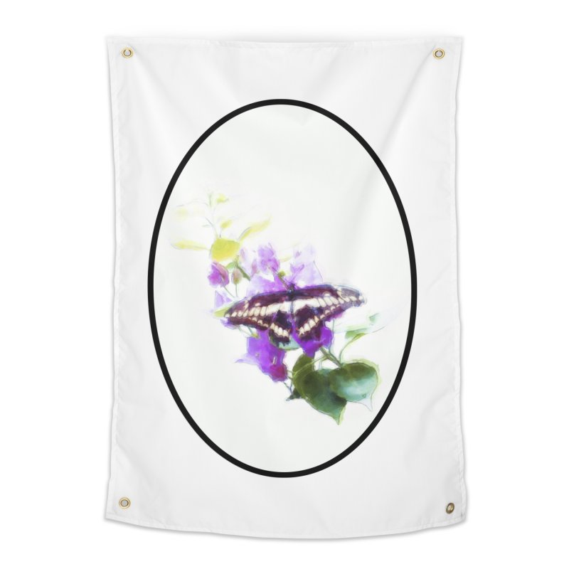 Giant Swallowtail Home Tapestry by Of The Wild by Kimberly J Tilley
