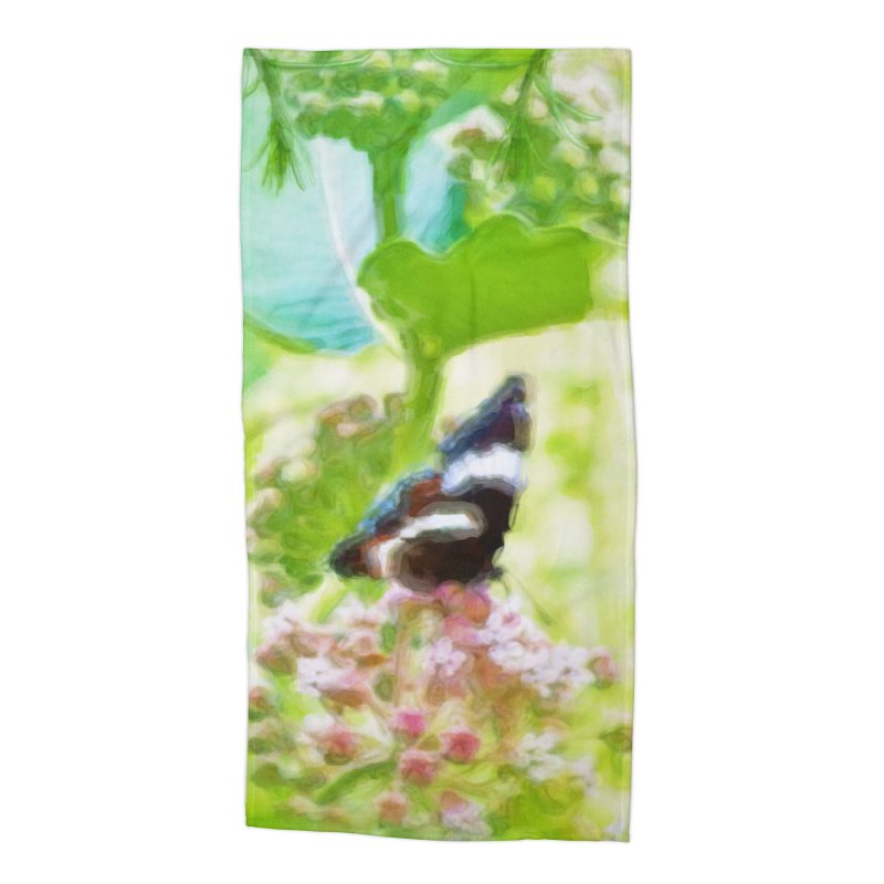 Butterfly and Milkweed Accessories Beach Towel by Of The Wild by Kimberly J Tilley