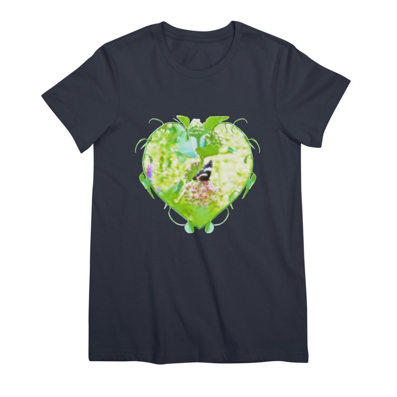 Butterfly and Milkweed Women's Premium T-Shirt by Of The Wild by Kimberly J Tilley