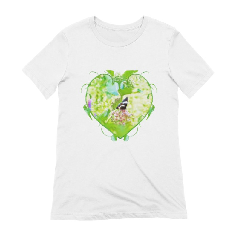 Butterfly and Milkweed Women's Extra Soft T-Shirt by Of The Wild by Kimberly J Tilley