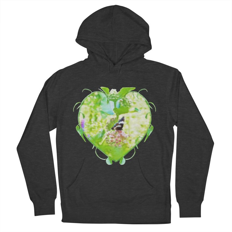Butterfly and Milkweed Women's French Terry Pullover Hoody by Of The Wild by Kimberly J Tilley