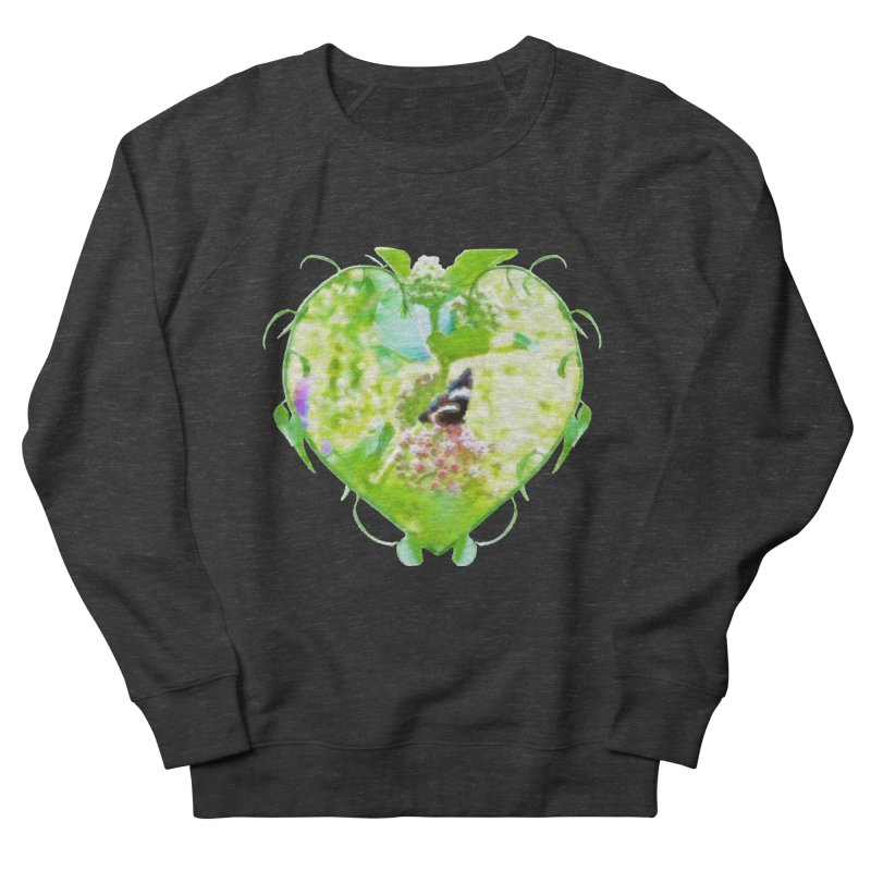 Butterfly and Milkweed Women's French Terry Sweatshirt by Of The Wild by Kimberly J Tilley