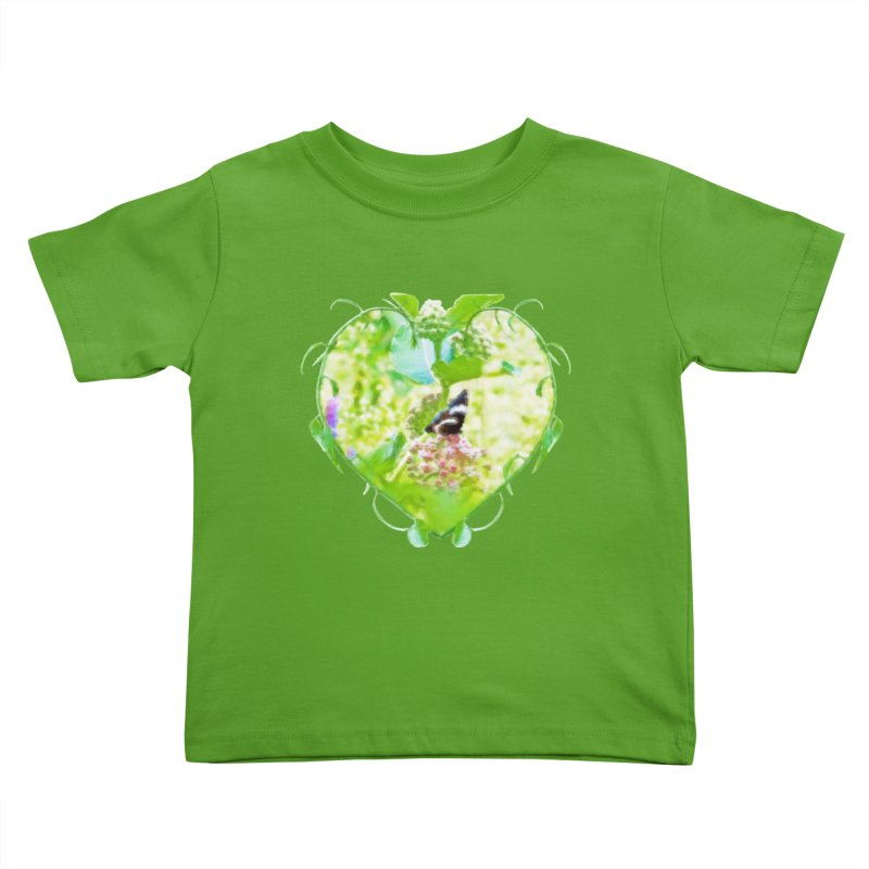 Butterfly and Milkweed Kids Toddler T-Shirt by Of The Wild by Kimberly J Tilley