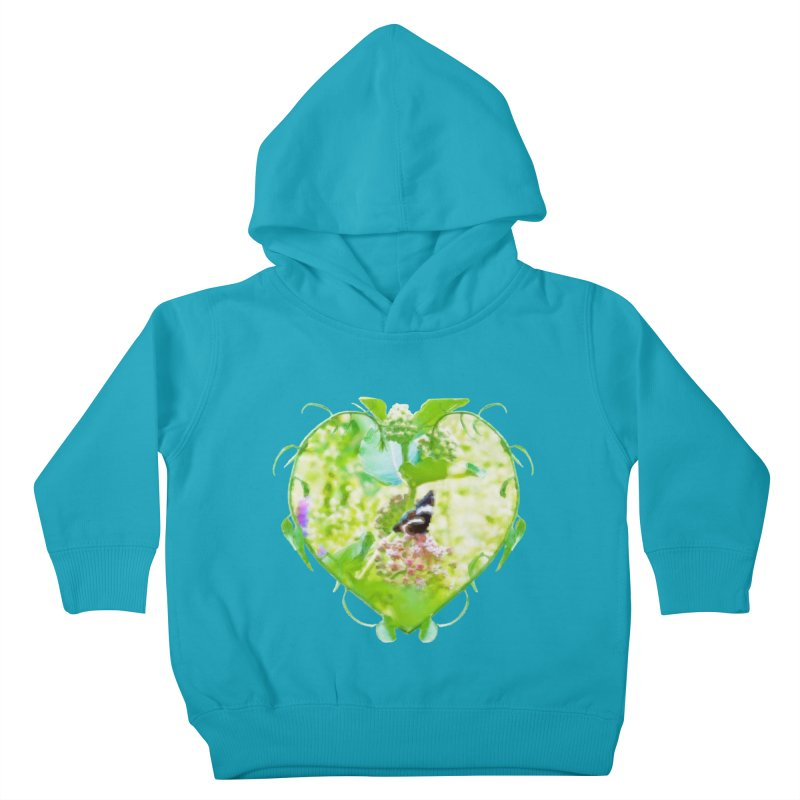 Butterfly and Milkweed Kids Toddler Pullover Hoody by Of The Wild by Kimberly J Tilley