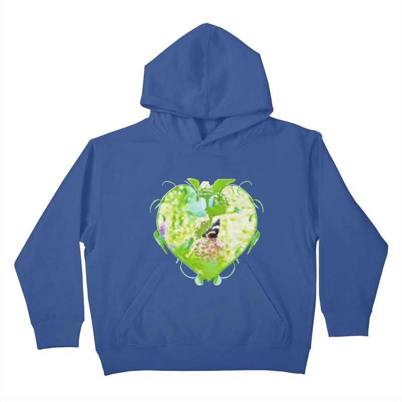 Butterfly and Milkweed Kids Pullover Hoody by Of The Wild by Kimberly J Tilley
