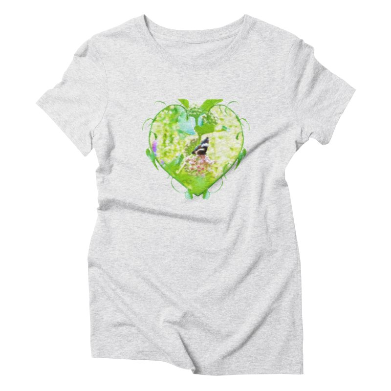Butterfly and Milkweed Women's T-Shirt by Of The Wild by Kimberly J Tilley