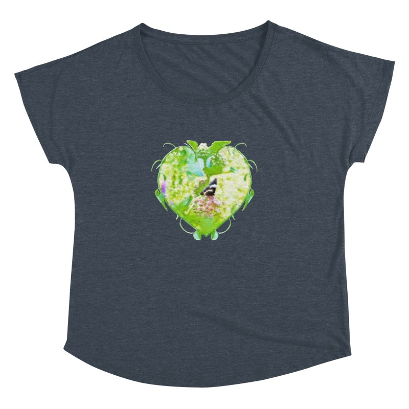 Butterfly and Milkweed Women's Dolman Scoop Neck by Of The Wild by Kimberly J Tilley