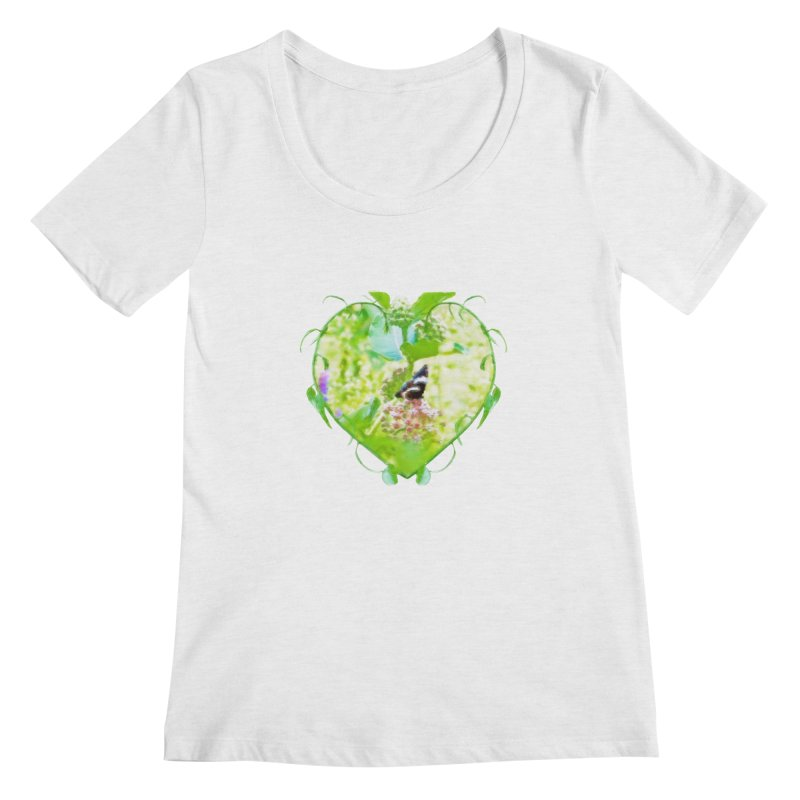 Butterfly and Milkweed Women's Scoop Neck by Of The Wild by Kimberly J Tilley