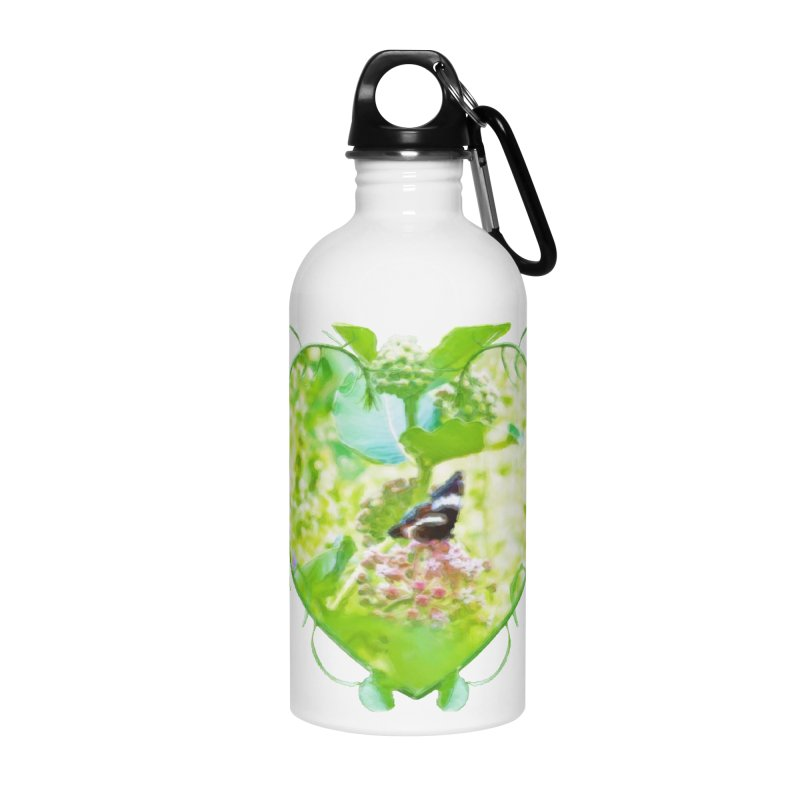 Butterfly and Milkweed Accessories Water Bottle by Of The Wild by Kimberly J Tilley