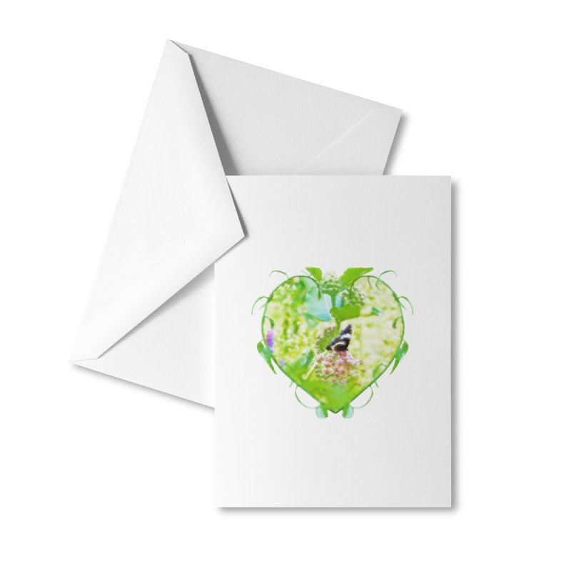 Butterfly and Milkweed Accessories Greeting Card by Of The Wild by Kimberly J Tilley