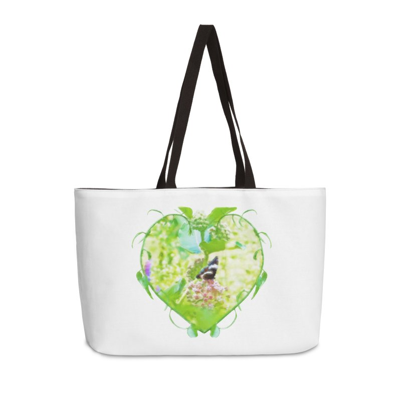 Butterfly and Milkweed Accessories Weekender Bag Bag by Of The Wild by Kimberly J Tilley