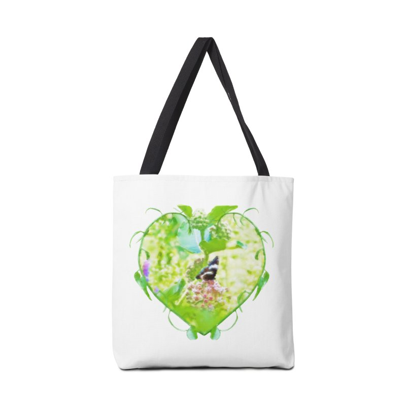 Butterfly and Milkweed Accessories Tote Bag Bag by Of The Wild by Kimberly J Tilley