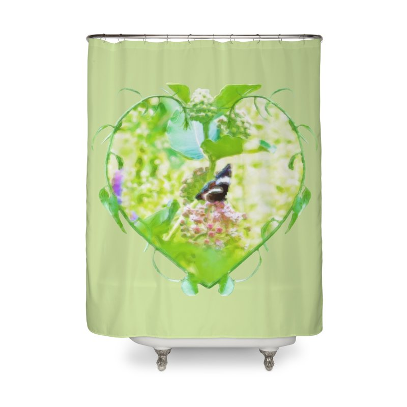 Butterfly and Milkweed Home Shower Curtain by Of The Wild by Kimberly J Tilley