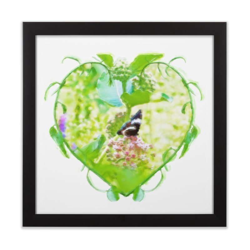 Butterfly and Milkweed Home Framed Fine Art Print by Of The Wild by Kimberly J Tilley