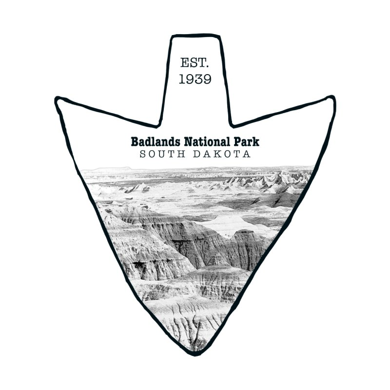 Badlands National Park Arrowhead Accessories Sticker by Of The Wild by Kimberly J Tilley