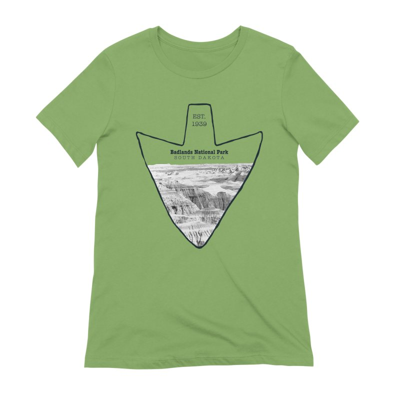 Badlands National Park Arrowhead Women's Extra Soft T-Shirt by Of The Wild by Kimberly J Tilley
