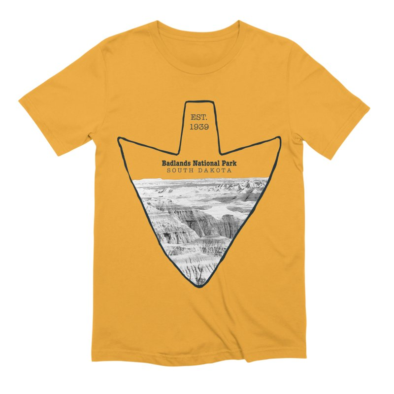 Badlands National Park Arrowhead Men's Extra Soft T-Shirt by Of The Wild by Kimberly J Tilley