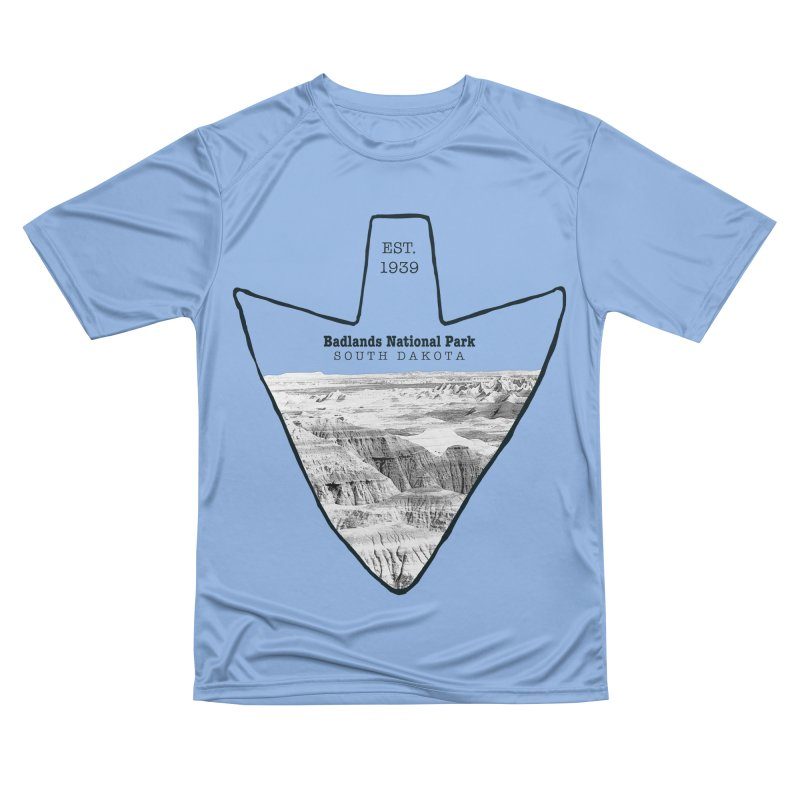 Badlands National Park Arrowhead Men's Performance T-Shirt by Of The Wild by Kimberly J Tilley