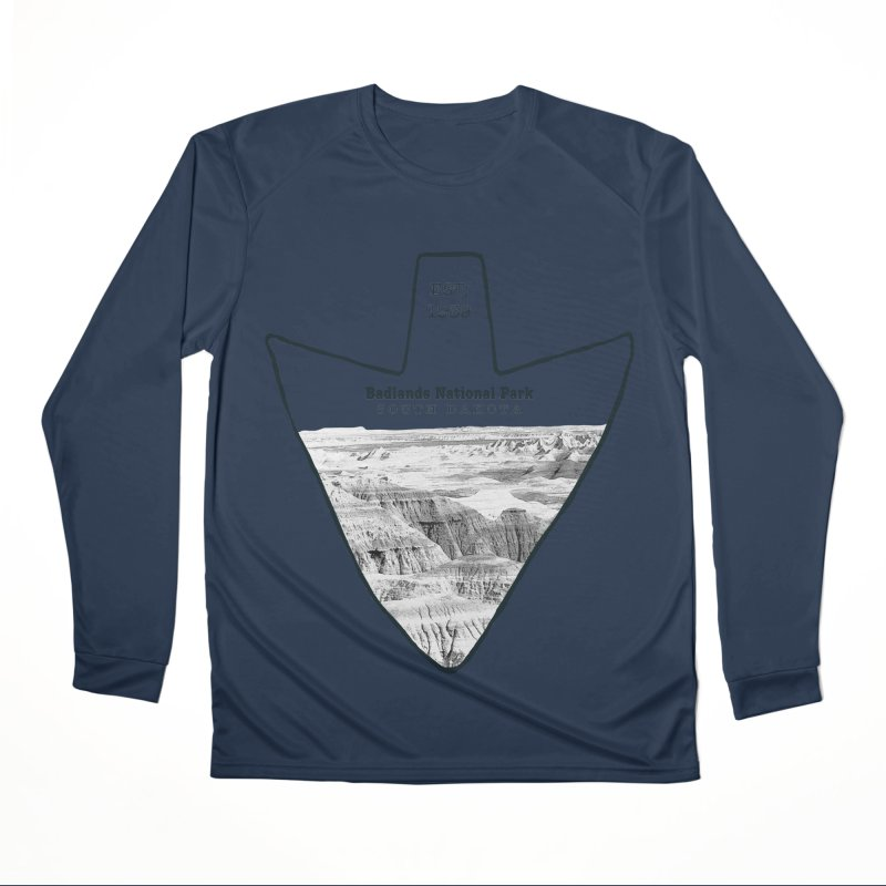 Badlands National Park Arrowhead Men's Performance Longsleeve T-Shirt by Of The Wild by Kimberly J Tilley