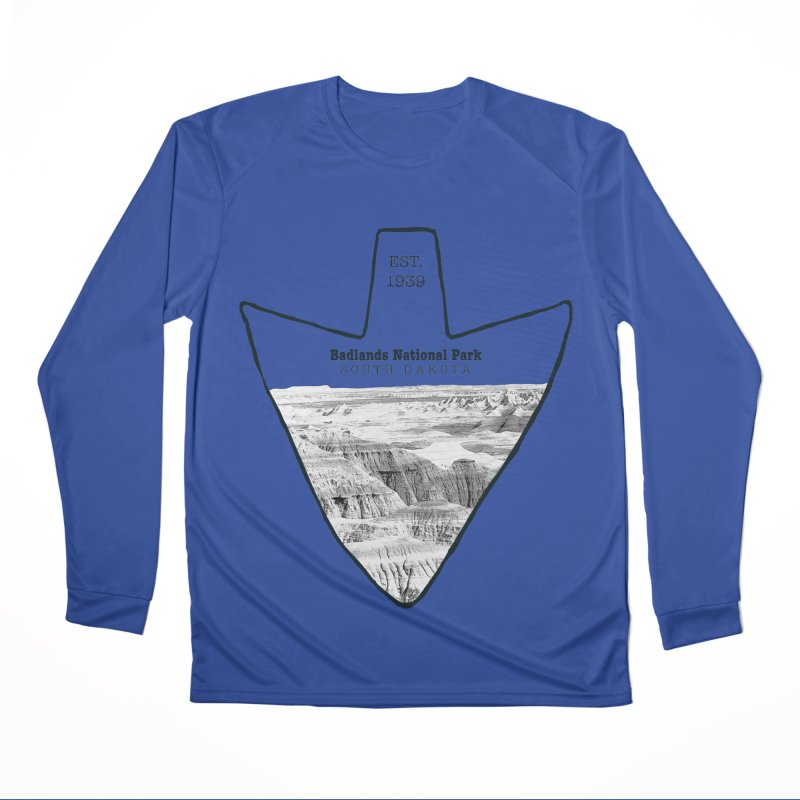 Badlands National Park Arrowhead Women's Performance Unisex Longsleeve T-Shirt by Of The Wild by Kimberly J Tilley