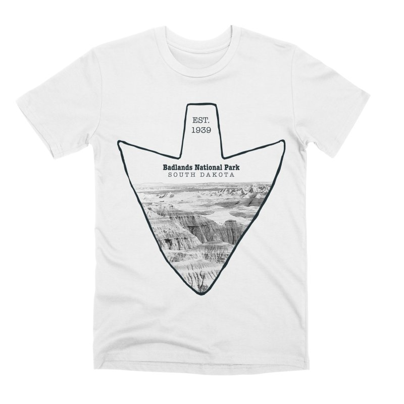 Badlands National Park Arrowhead Men's Premium T-Shirt by Of The Wild by Kimberly J Tilley