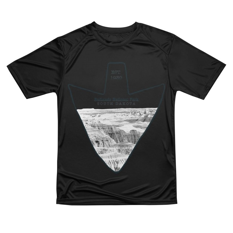 Badlands National Park Arrowhead Women's Performance Unisex T-Shirt by Of The Wild by Kimberly J Tilley