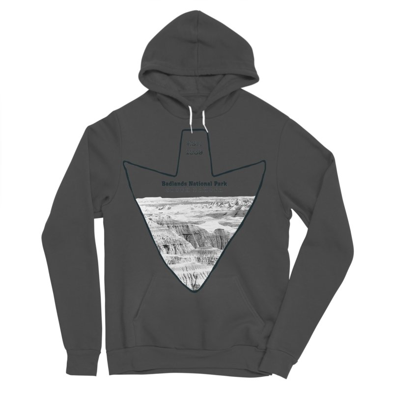 Badlands National Park Arrowhead Men's Sponge Fleece Pullover Hoody by Of The Wild by Kimberly J Tilley