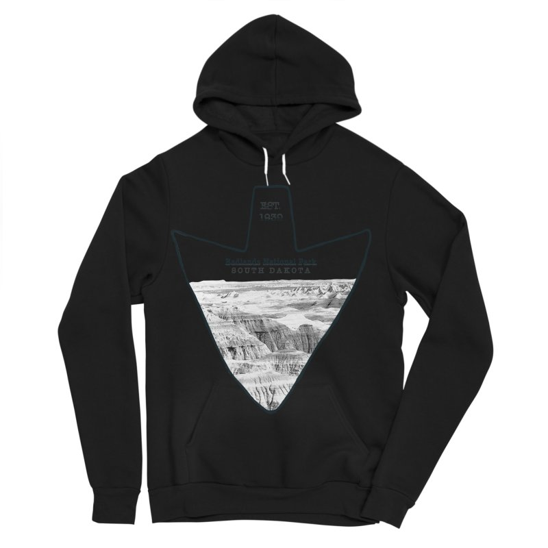 Badlands National Park Arrowhead Women's Sponge Fleece Pullover Hoody by Of The Wild by Kimberly J Tilley
