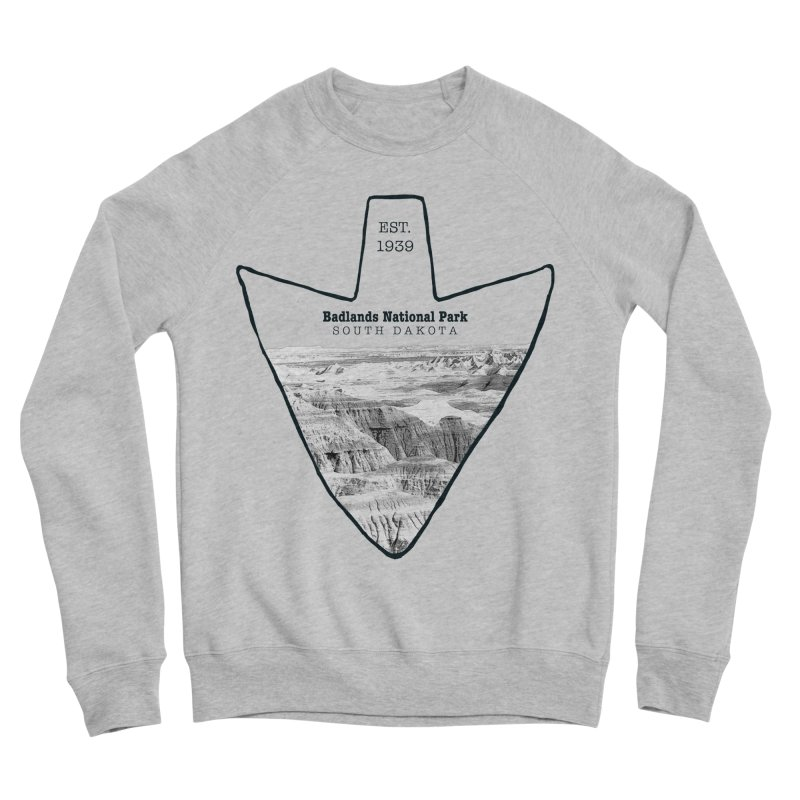 Badlands National Park Arrowhead Women's Sponge Fleece Sweatshirt by Of The Wild by Kimberly J Tilley