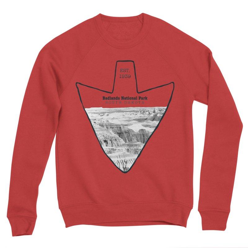 Badlands National Park Arrowhead Men's Sponge Fleece Sweatshirt by Of The Wild by Kimberly J Tilley